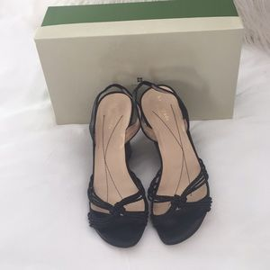 Kate Spade Black Wedge Heels